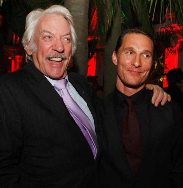 Donald Sutherland and Matthew McConaughey at the premiere of Warner Bros. Pictures