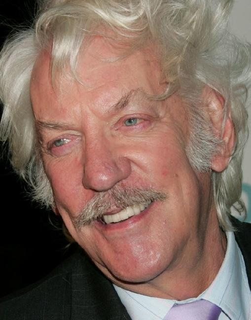 Donald Sutherland at the premiere of Warner Bros. Pictures