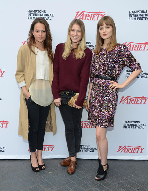 Alicia Vikander, Dree Hemingway and Bella Heathcote at the Variety Performers Brunch during the 20th Hamptons International Film Festival.