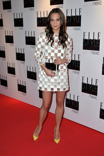 Alicia Vikander at the Elle Style Awards in London.