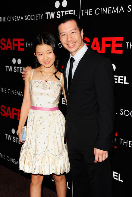 Catherine Chan and Reggie Lee at the New York premiere of