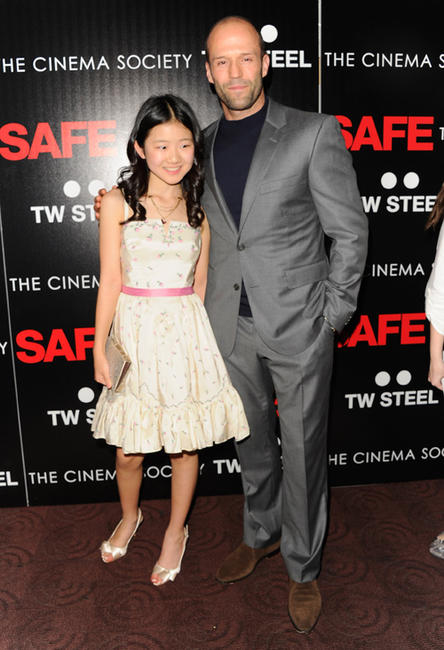 Catherine Chan and Jason Statham at the New York premiere of