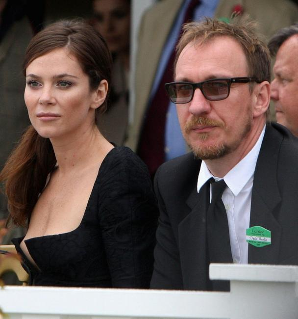 Anna Friel and David Thewlis at the Cartier International Polo Day 2009.