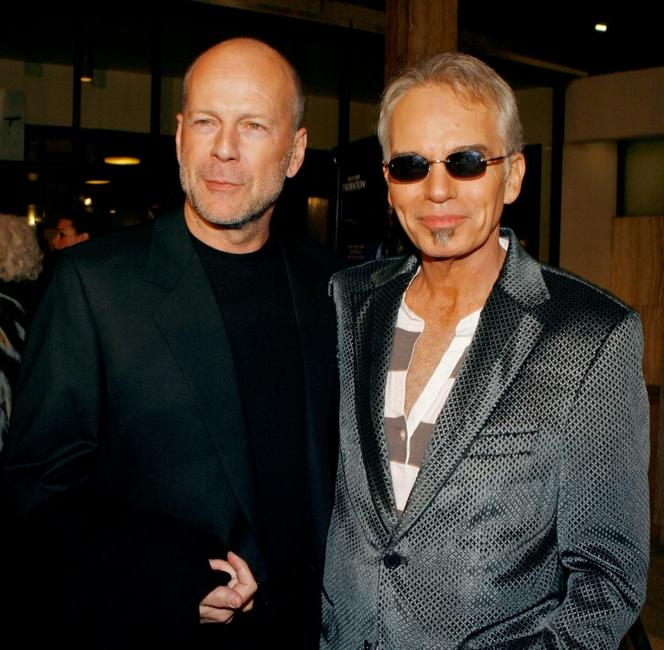 Billy Bob Thornton and Bruce Willis at the Hollywood premiere of