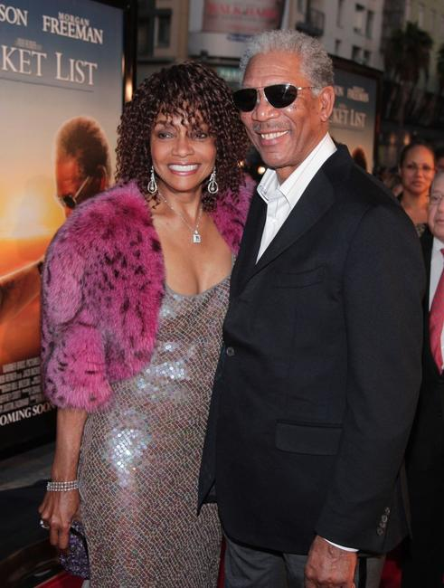 Beverly Todd and Morgan Freeman at the premiere of