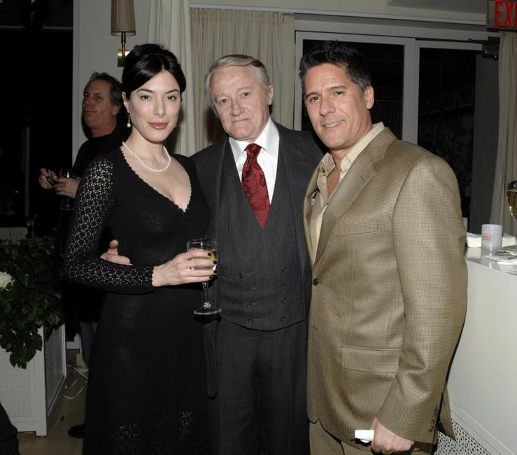 Jaime Murray, Robert Vaughn and Rob Sorcher at the Celebration of Golden Globe Nomination For