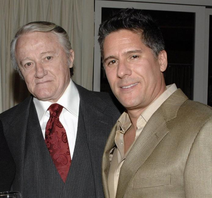 Robert Vaughn and Rob Sorcher at the Celebration of Golden Globe Nomination For