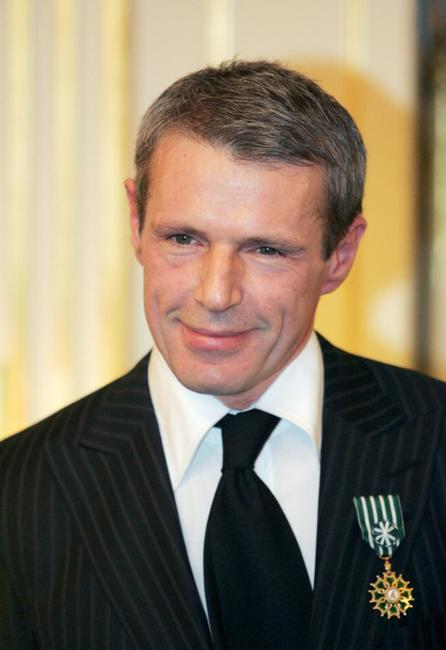 Lambert Wilson at the culture ministry in Paris after being awarded by minister Renaud Donnedieu de Vabres, as knights in the Order of Arts and Letters.