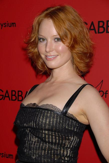 Alicia Witt at the charity collaboration between fashion designers Dolce & Gabbana and Penelope Cruz to benefit The Art of Elysium.
