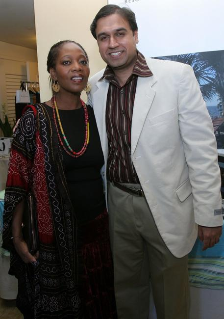 Alfre Woodard and Aman Bhandari at 2007 World Talent Style lounge held before the 64th Annual Golden Globe Awards at the Beverly Hilton.