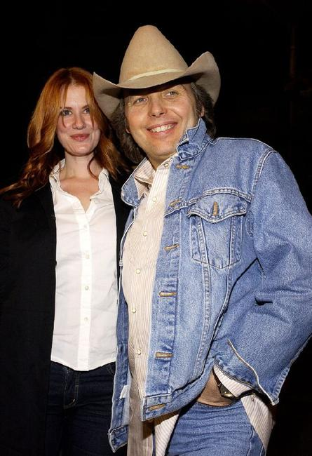 Dwight Yoakam and Kristen Huff at the premiere of
