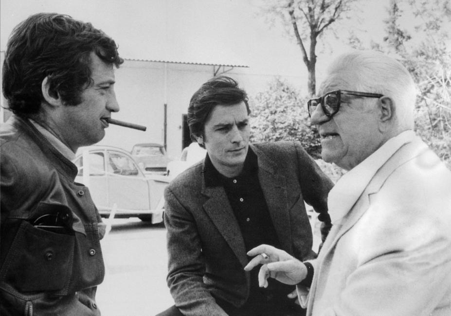 Jean-Paul Belmondo, Alain Delon and Jean Gabin.