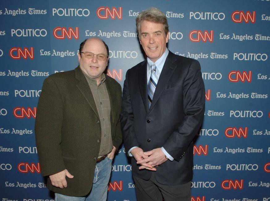 Jason Alexander and John Roberts at the CNN, LA Times, POLITICO Democratic Debate.