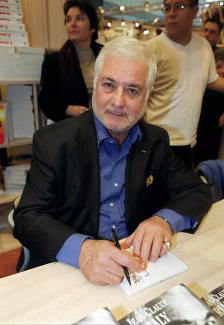 Jean-Claude Brialy at a book fair in Paris.