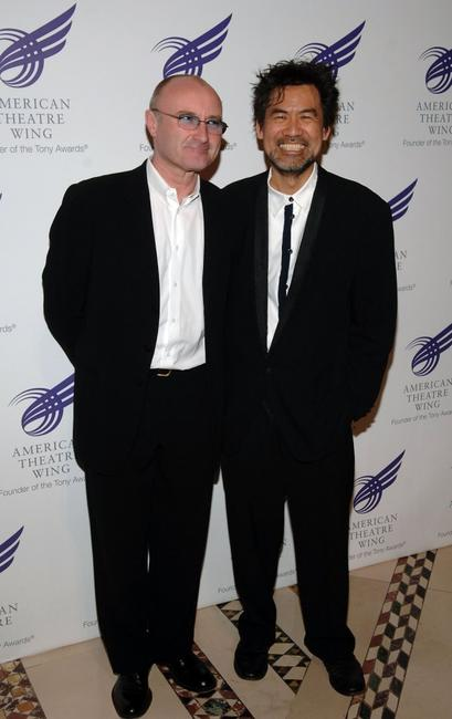 Phil Collins and David Henry Hwang at the American Theatre Wing Annual Spring Gala.