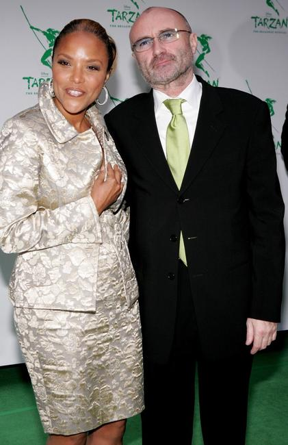 Phil Collins and Lynn Whitfield at the opening night of