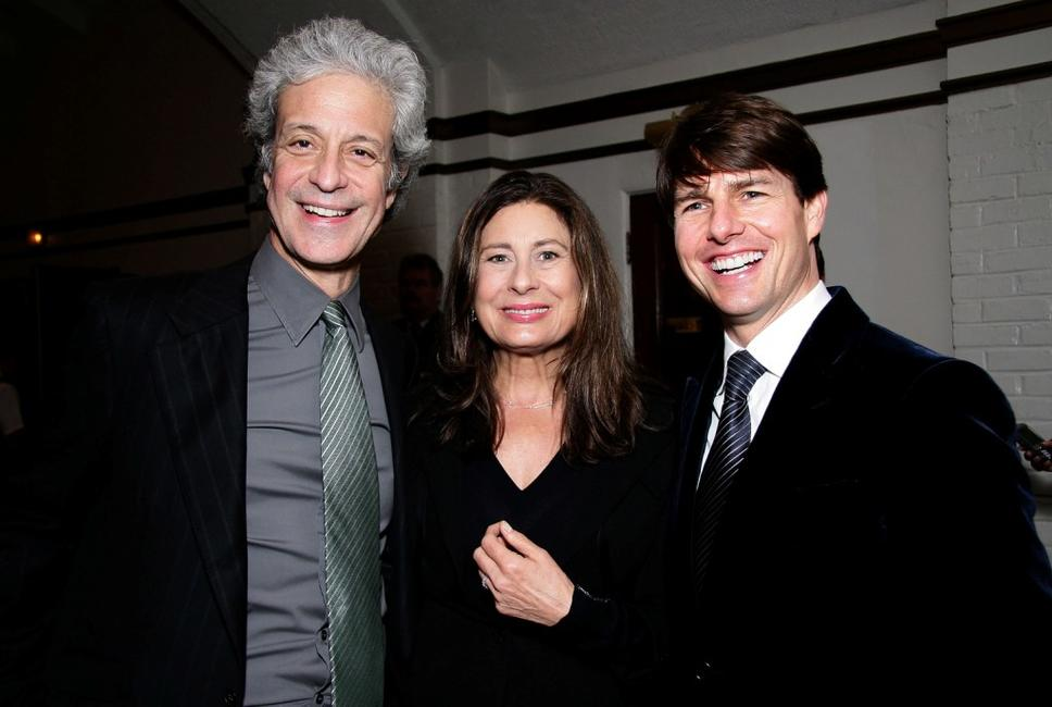 Tom Cruise, Paula Wagner and Rick Nicita at the California premiere of
