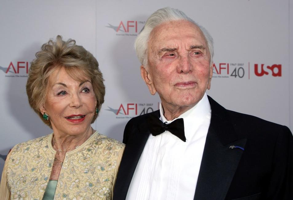 Kirk Douglas and Anne Buydens at the 35th AFI Life Achievement Award.