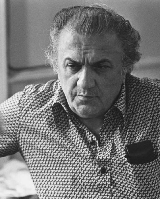 Federico Fellini in a photo taken in Rome.