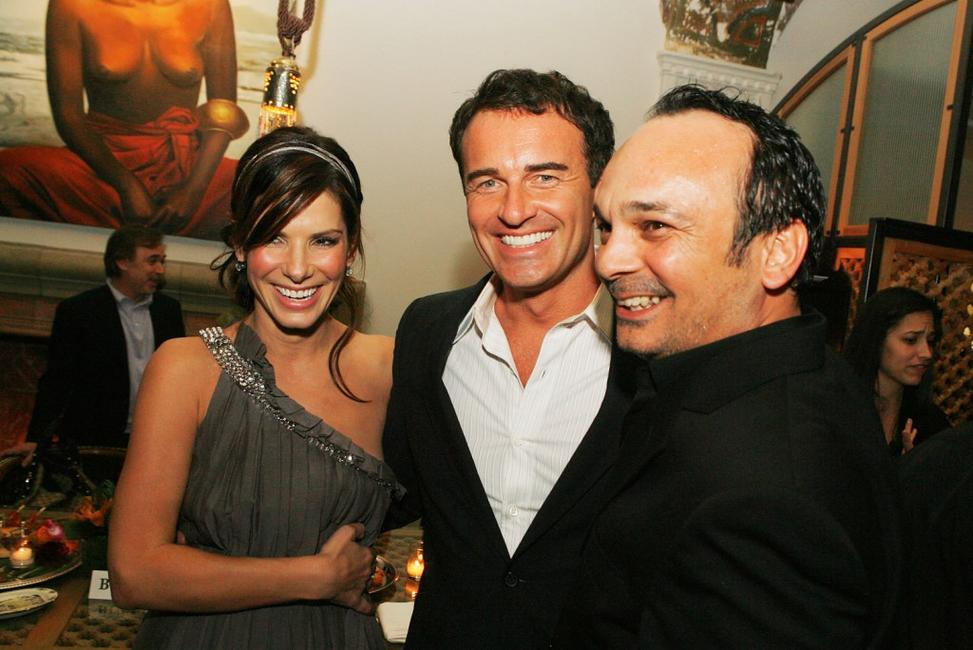 Sandra Bullock, Julian McMahon and Mennan Yapo at the afterparty for the premiere of