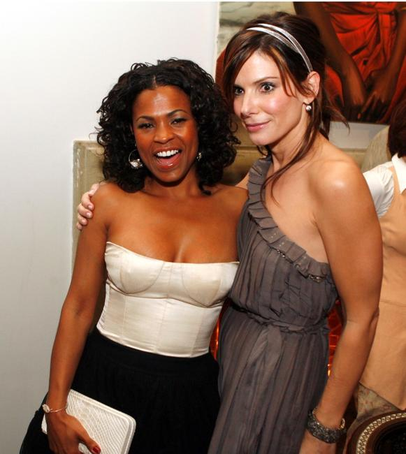 Sandra Bullock and Nia Long at the afterparty for the premiere of