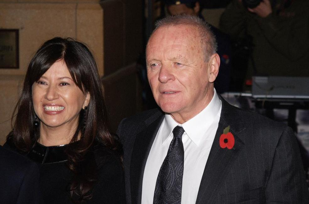 Anthony Hopkins and his wife Isabella at the London premiere of