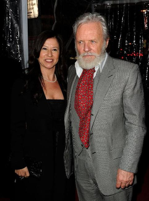 Stella Arroyave and Anthony Hopkins at the California premiere of