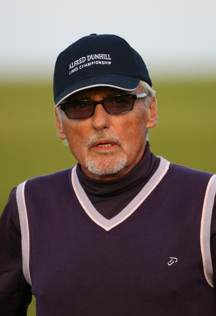 Dennis Hopper at the third round of The Alfred Dunhill Links Championship at Kingsbarns Golf Links.