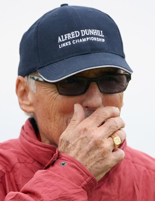 Dennis Hopper at the first round of The Alfred Dunhill Links Championship at Kingsbarns Golf Links.