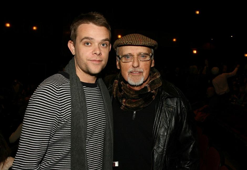 Dennis Hopper and Nick Stahl at the premiere of