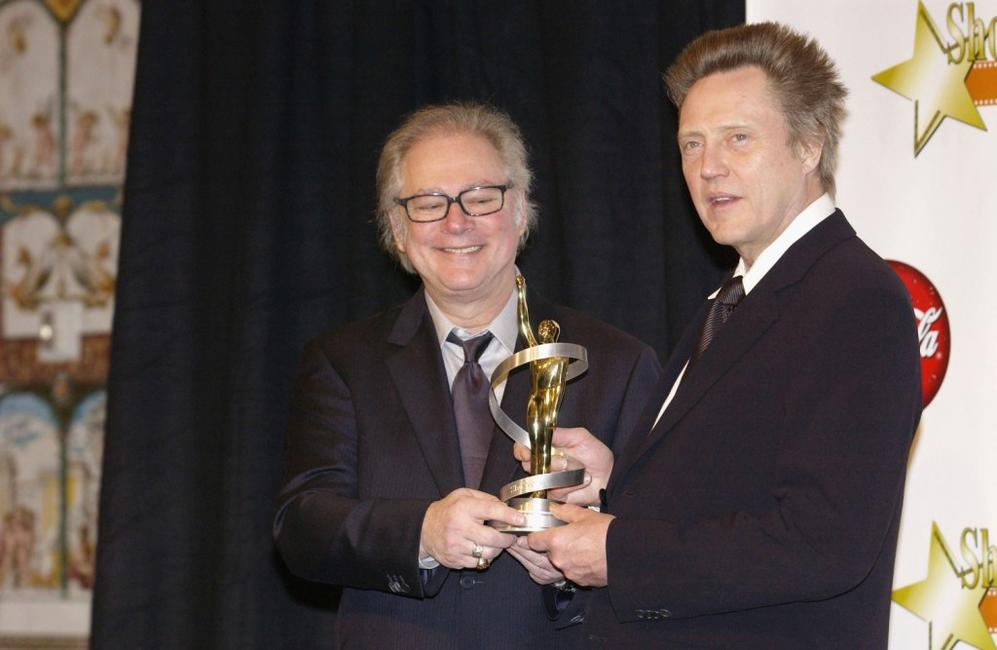 Barry Levinson and Christopher Walken at Paris Hotel for the 2003 ShoWest Awards Ceremony.