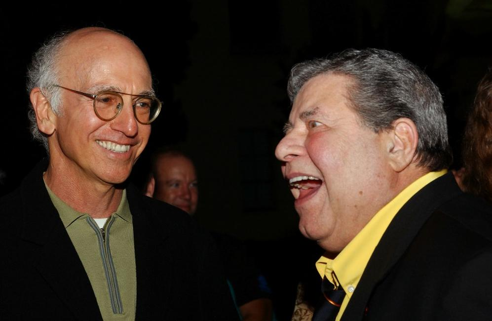 Jerry Lewis and Larry David at the California premiere of