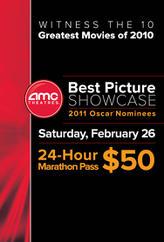 AMC 2011 Best Picture Showcase 24-hour Marathon showtimes and tickets