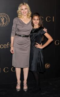 Madonna and her daughter Lourdes Maria Ciccone Leon attend a reception to benefit UNICEF hosted by Gucci during Mercedes-Benz Fashion Week Fall 2008.