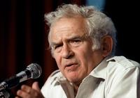 Norman Mailer at a press conference as member of the jury of the 40th Cannes film festival.