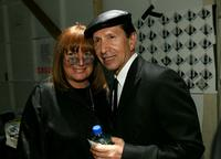 Penny Marshall and Manny Mashouf at Smashbox Studios for the Collection Bebe Fall 2007 fashion show during Mercedes Benz Fashion Week.