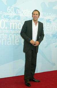 Nicolas Cage at a photo call for