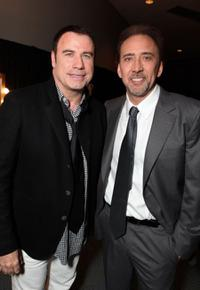 John Travolta and Nicolas Cage at the opening Ceremony of Disney's Inaugural D23 Convention.