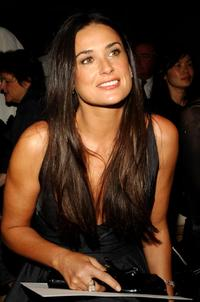 Demi Moore at the Donna Karan Collection 2008 Fashion Show during the Mercedes-Benz Fashion Week Spring 2008.