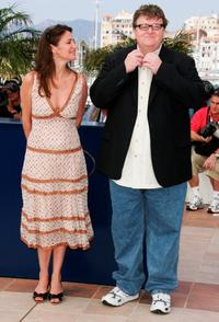 Michael Moore and Meghan O'Hara at the photocall of the movie