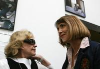 Jeanne Moreau and French Culture Minister Christine Albanel at the 52nd Venice Biennale in Venice.