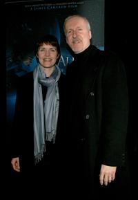 James Cameron and Marine seismologist Dr. Maya Tolstoy at the premiere of