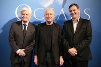 Jacques Perrin, Jerome Seydoux and director Jacques Cluzaud at the premiere of