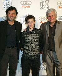 Director Christophe Barratier, Jean-Baptiste Maunier and Jacques Perrin at the after party of the premiere of