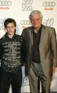 Jean-Baptiste Maunier and Jacques Perrin at the after party of the premiere of