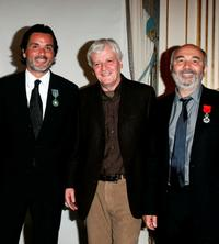 Director Christophe Barratier, Jacques Perrin and Gerard Jugnot at the Knight of the Legion of Honor Awards.