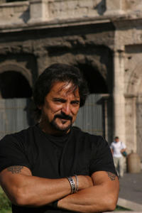 Director Tom Savini on the set of