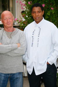 Tony Scott and Denzel Washington at the photocall of