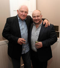David Seidler and Gareth Unwin at the luncheon for The Weinstein Company's