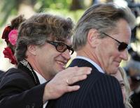Sam Shepard and Wim Wenders at the screening of the film